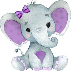 Elephant Baby Blanket, Baby Girl Blankets, Elephant Family, Baby Zoo Animals, Cute Animals Images, Purple Elephant, Baby Shower Invitaciones, Unicorn Halloween, Embossed Cards