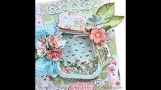 Amazing Paper Grace Floral Mason Jar Shaker Embellishment Tutorial Spinner Card, Album Book, Shaker Cards, Bee Happy, Mini Albums, Embellishments, Mason Jars, The Creator, Create