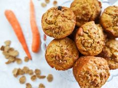 Carrot Cake Bran Muffins - Healthy food for the Soul