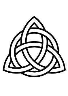 Trisquel Celta con Círculo Dibujo para colorear