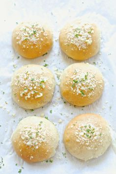 Gluten Free Dinner Rolls Recipe (dairy free vegan)- Light and fluffy garlic parmesan gluten free rolls or hamburger buns. Soft and delicious warm from the oven. Food Allergy friendly too!