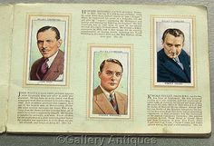 Vintage - Radio Celebrities 2nd Series Full Set of 50 Cigarette Cards in Original Album by W. D. & H. O. Wills Issued in 1935 (ref: 3190)