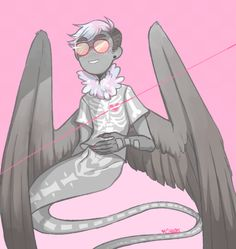 pastel goth davesprite aka lovechild of kurloz and davesprite<<<that's the best description ever Simple Cartoon, Striders, Goth Art, Mystic Messenger, Homestuck, Pastel Goth, Character Design, Character Inspiration, Cartoon Characters