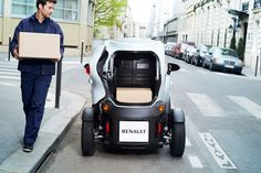 all-electric renault twizy cargo edition