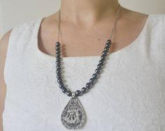 Muslim gemstone Koran turkish islamic choker necklaceAllah