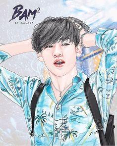 Got7 Fanart, Kpop Fanart, Park Jinyoung, I Got 7, Got7 Bambam, Best Kpop, Boy Art, Jackson Wang, Fantastic Art