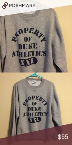 LAST CHANCE Property of Duke Athletics sweatshirt So cute and comfy! Vintage Sweaters Crew & Scoop Necks