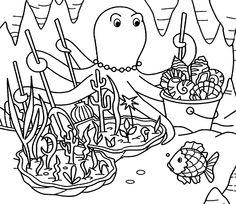 [프린트도안] 무지개물고기 색칠공부 색칠놀이  네이버 블로그 색칠 색칠공부 책 및 책