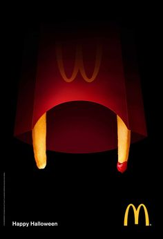 Viral marketing goes social media McDonald's: Happy Halloween - 25 Examples of Brilliant and Creative Advertising Creative Advertising, Ads Creative, Creative Posters, Advertising Poster, Advertising Campaign, Advertising Design, Contextual Advertising, Creative Review, Creative Ideas