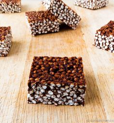 Choco-nut Puffed Millet Squares by Katys Kitchen