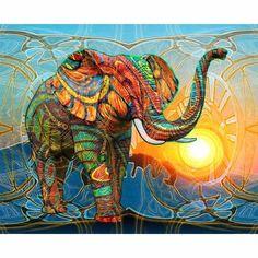 Elephant Animal 5D Diy Diamond Embroidery Painting Cross Stitch Home Decor Craft #ebay #Home & Garden