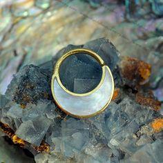 Buddha Jewelry Organics Haute 14kt Gold-plated Silver Septum Nose Ring 16 Gauge 16g