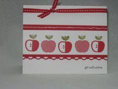 Apples for Autumn- would be a cute teacher's card
