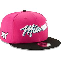 brand new 93dd2 bc9dd Men s Miami Heat New Era Pink Earned Edition 9FIFTY Snapback Hat, Your Price    33.99