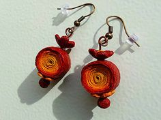 Polymer clay earrings KatikaZ / Etno Spiral  http://www.sashe.sk/KatikaZ http://www.fler.cz/katikaz  https://www.facebook.com/pages/Katika-Handmade-jewelry/611752618918894?ref=hl