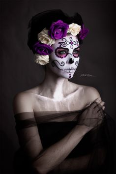 Makeup Artist ^^ | La Catrina Photo: Michel Evans Model: Denise Rossatto MUA: Raquel Martínez  https://pinterest.com/makeupartist4ever