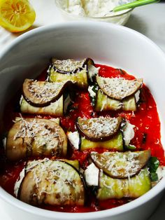 aubergine cannelloni met spinazie en ricotta barefootstyling.com