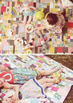 Lu's absolutely gorgeous quilt made from Matilda Jane clothes. Love this so much.
