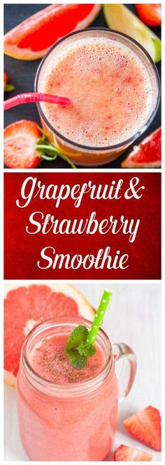 This strawberry and grapefruit smoothie recipe is full of antioxidants. It is a great way to boost the immune system and get a healthy start on the day. Make the smoothie in your Nutribullet or any blender. http://juicerblendercenter.com/finding-the-best-blender-for-smoothies/