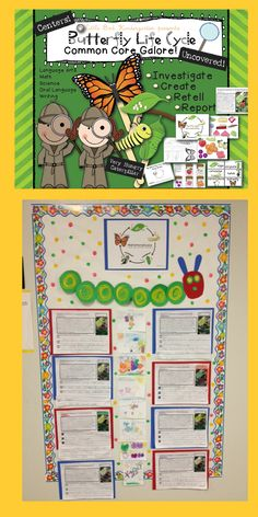 Little Bird Kindergarten: Butterfly Life Cycle Close Read with writing extensions!