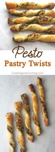 Pesto Pastry Twists Recipe