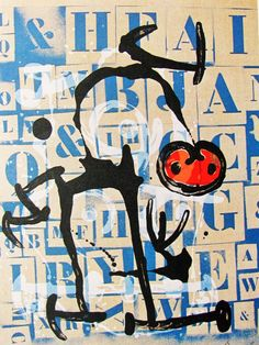 MIRO - INDELIBLE MIRO # 9 - OFFSET LITHOGRAPH - 1972 - FREE SHIP IN US  !!! #Abstract