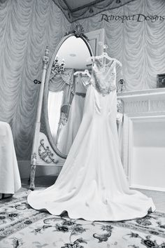 Beautiful dress in our Bridal Boudoir from a wedding in March!