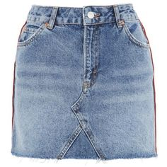 Swap out your shorts for something with a little more edge in the MOTO denim mini skirt skirt.<br /><br /><b>Model's height is Jeans Moto, Denim Jeans, High Waisted Denim Skirt, Blue Denim Skirt, Denim Skirts, Blue Shorts, Waist Skirt, Jean Skirt, River Island Skirts