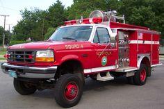 old Brush Fire Trucks   Squad 4 - 1994 Ford F-450/E-One 4X4 500/300 (Truck Modified April 2012 ...