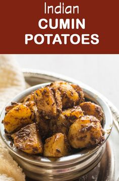 Jeera aloo, Indian cumin potatoes can be made in few minutes without any hassles. This recipe required lesser ingredients | pepperbowl.com via @pepperbowl