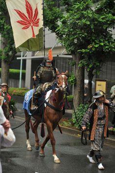 Procession of the Soma Nomaoi cavalry at the Kanda Matsuri.
