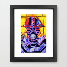 neon Soldier v2 Framed Art Print by seb mcnulty - $32.00