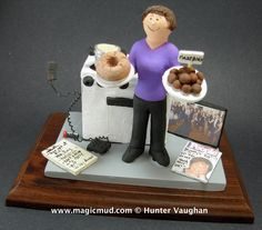 Moms Christmas Gift Figurine by www.magicmud.com 1 800 231 9814 creating a custom made gift figurine for any woman based on the things she likes to do! ...incorporating her work, sports, family, hobbies, food, drink, shopping, etc. $225 #vet #veterinarian #mom #mother #momsgift #wife #christmas #birthday #anniversary #custom #personalized #xmas #present #award #ChristmasGift #BirthdayGift #sister #girlfriend #aunt #BFF