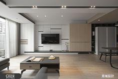 青域設計有限公司 北歐風設計圖片青域_10之5-設計家 Searchome Flat Interior, Modern Interior, Interior Design, Tv Feature Wall, Living Tv, Living Rooms, Beds For Small Spaces, Living Room Tv Unit Designs, Tv Wall Decor