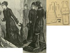 Tygodnik Mód 1878.: Princess overdress.