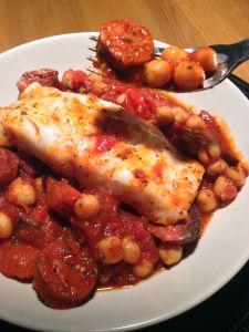 Cod and Chorizo Traybake www.theglasgowscullery.com