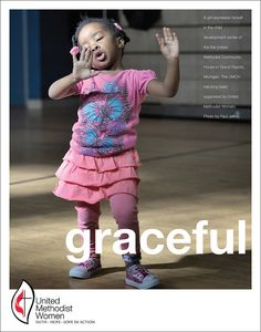 A girl expresses herself in the child development center of the United Methodist Community House in Grand Rapids, Michigan. The UMCH has long been supported by United Methodist Women. Photo by Paul Jeffrey