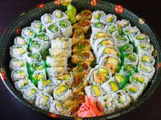 Order Sushi Roll Party Platter (61 pcs) by I Love Sushi on SoHungry.com | Delivery | Pickup | Cash | Card