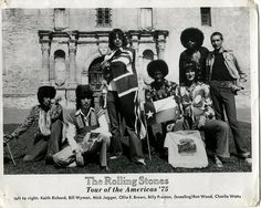 Rolling Stones in front of The Alamo in San Antonio, Texas 1975