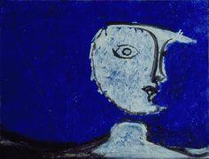 """Osvaldo Licini - Luna su fondo blu, 1945 - Mart, Collezione Augusto e Francesca Giovanardi - """"La Magnifica Ossessione"""" www.mart.tn.it/magnificaossessione"""
