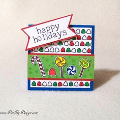 Lawn Fawn's Sweet Christmas & Smitty's ABC's stamp sets, and Tombow markers - ValByDesign