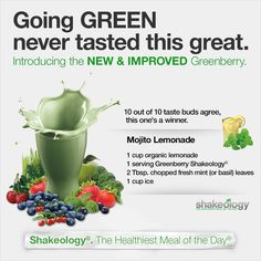 Shakeology Greenberry Mojito Lemonade The healthiest meal of the day! Order yours at www.beachbodycoach.com/healthyheather123
