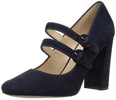 Nine West Women's Dabney Pump, Navy Suede, 7 Medium US for sale Pumps Heels, Flats, Nine West, Mary Janes, Navy, Amazon, Medium, Best Deals, Shoes