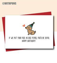 Funny Birthday Card Happy Birthday Card Dog Birthday Card