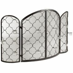 Pier 1 - Candra Fireplace Screen with tealight holders on it. Love.