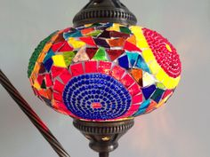 Very Colorful & Exotic Swan neck Mosaic Lamp
