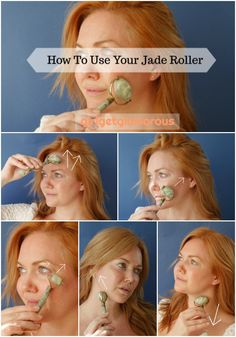 how to use a jade roller - Care - Skin care , beauty ideas and skin care tips Diy Beauty Hacks, Beauty Hacks For Teens, Diy Hacks, Beauty Care, Beauty Skin, Face Beauty, Technique Massage, Yoga Facial, Face Yoga