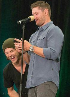 Jensen's first tweet wirh Jared help