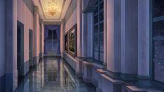 The hallway - Visual novel BG by Episode Interactive Backgrounds, Episode Backgrounds, Anime Backgrounds Wallpapers, Fantasy Rooms, Fantasy Castle, Fantasy Places, Sci Fi Wallpaper, Anime Scenery Wallpaper, Fantasy Art Landscapes