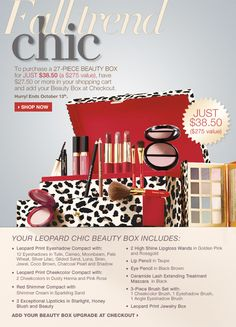Fall Leopard Beauty Box, $38.50 after buying $27.50 or more. (http://shop.elizabetharden.com)